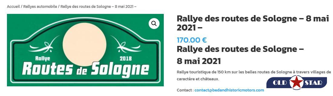5 juin 2021, Etape du Rallye des routes de SOLOGNE